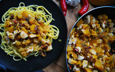 Spaghetti z dyni