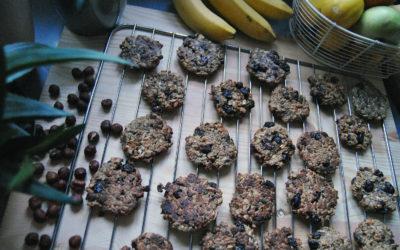 Bezglutenowe orzechowe ciasteczka gryczano-owsiane